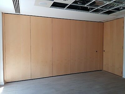 4.93 Metre Wide Semi-Electric Acoustic Folding Partition Wall System For £699