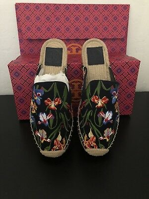 c37c7f57d17f NEW❇️TORY BURCH MAX EMBROIDERED ESPADRILLE FLAT NAVY SZ 7 Retail  228