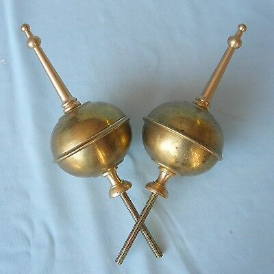 Pair of Solid Brass Grandfather Clock Finials
