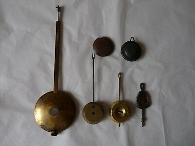 Antique Fusee Clock Pendulum with Spring Suspension, Assorted Other Styles Parts