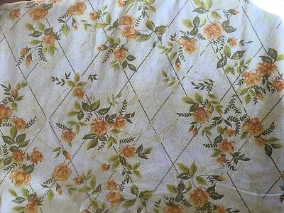 Vintage Floral Cotton DOUBLE Bed SHEET Fabric MATERIAL