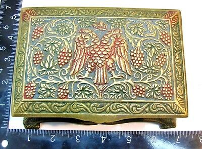 Vintage * DOUBLE HEADED BYZANTINE EAGLE * JEWELRY / TRINKET BOX with Key