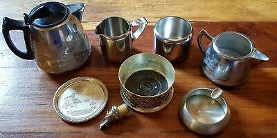 Pewter And Silver Plated Metal Ware Bundle