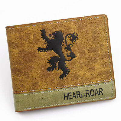 Game of Thrones House Lannister Hear Me Roar Leather Slim Wallet Card Coin Gift