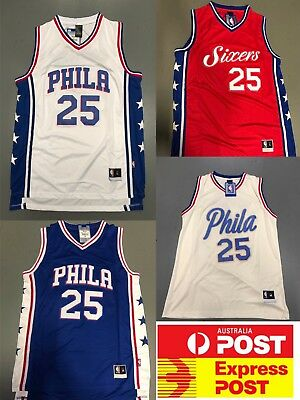 newest dc3ff bfb3d PHILADELPHIA SIXERS EMBIID Jersey blue Color Adult Size ...