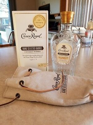 Crown Royal Hand Selected Barrel Empty Bottle & Box & Bag Harry's Liquor KC