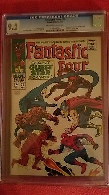 Fantastic Four #73 CGC 9.2 NM- Daredevil, Spider-man and Thor appear