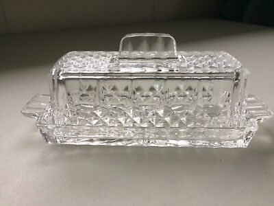 Cut Glass Crystal Covered Butter Dish