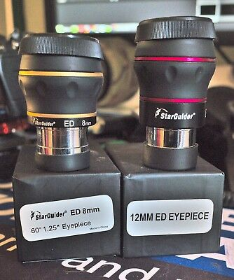 BST Starguider ED telescope eyepieces 8mm and 12mm (two eyepieces)