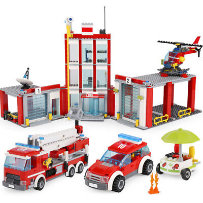 New Custom City Fire Station Lego Compitible 60110 Instruction