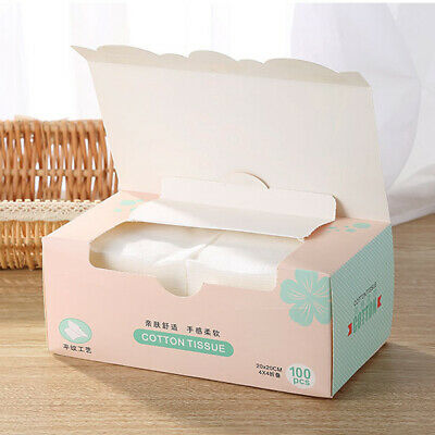100x Disposable Cleaning Face Towel,Non-woven Fabric Wipers Washing Clothes