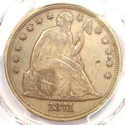 1871 Seated Liberty Silver Dollar $1 - PCGS XF Details - Rare Certified Coin!