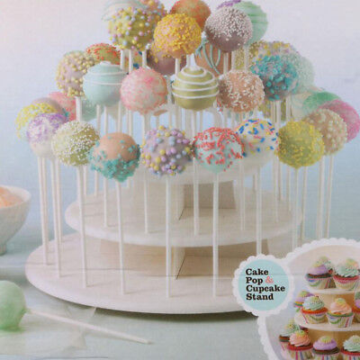 Baoblaze CAKE POP or CUPCAKE DISPLAY STAND, LOLLIPOP TOWER, 42 HOLE, 3-TIER