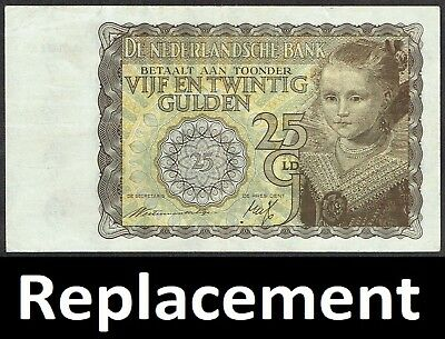 Netherlands 25 Gulden 1940 Prinsesje Princess Replacement P57 MWR RD11 / PL62.R