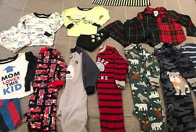 15 Piece EUC 3T Boy's Pajamas ALL Carter's And Baby Gap Fits 2T-3T