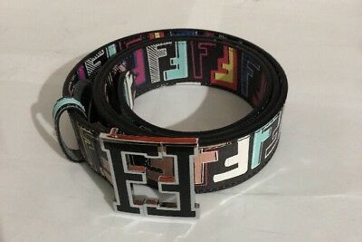 Men's Black Multicolored Fendi Belt