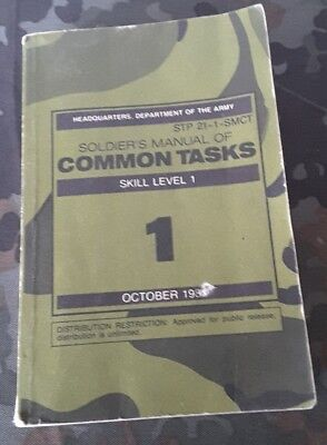 Soldiers Manual of common Tasks Skill level 1 1987  wie Dt. Reibert