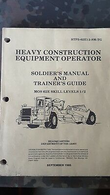 Heavy Construction Equipment Operator Manual Handbuch STP5