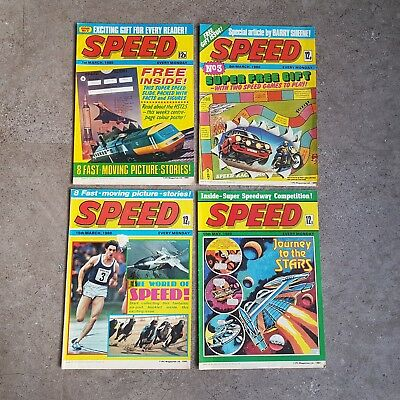 Vintage 1980 Comic Book SPEED - Issues 2, 3, 4, 12 - Nice Condition