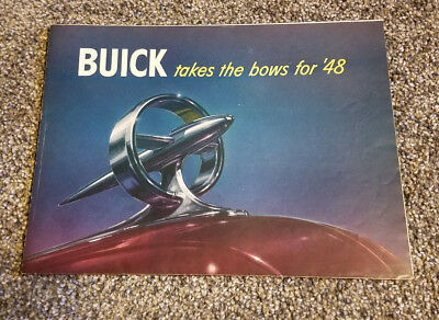 Buick Takes The Bows For 1948 Car Pamphlet Booklet