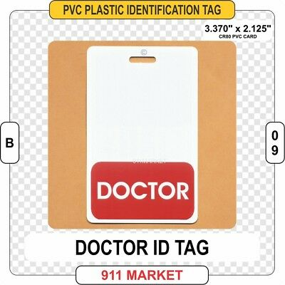 Doctor ID Tag Physician Medical Director Hospital Badge Identification - B 09