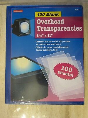 Overhead Transparencies box of 100