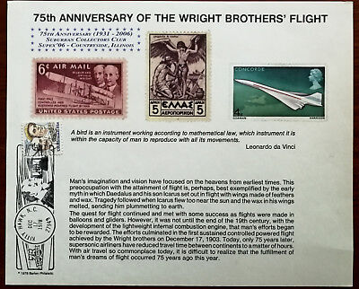 75th Anniversary of Wright Brothers Flight. Suburban Collectors Club Supex 06
