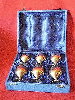 Vintage  Epns  Miniature Goblets In Original Box