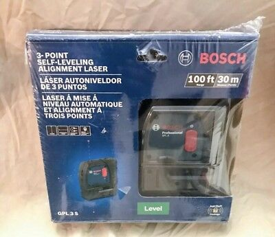 Bosch GPL 3 S 100 ft 3-point Self-Leveling Alignment Laser (NEW)!!!!!!!