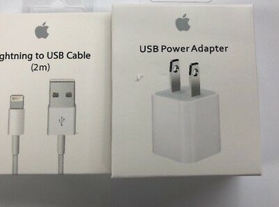 6ft OEM Lightning Cable & Wall Charger Cube Set Plug for Original Apple iPhone