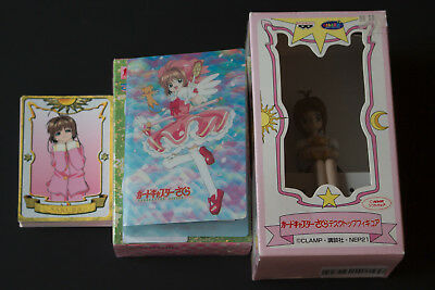 Card Captor Sakura Figure with Collector Cards and Mini Binder (CLAMP) - Mint