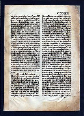 1499 Blatt CCCXX Inkunabel Vita Christi Zwolle incunable Dutch Holland Saxonia
