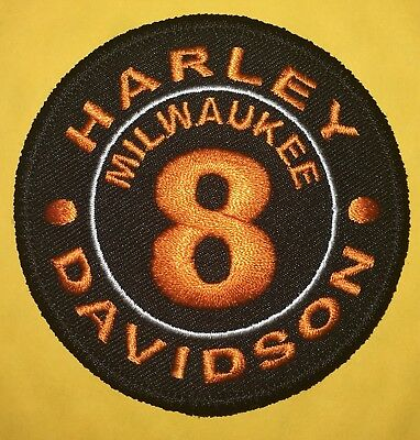 Harley Davidson Milwaukee 8 Patch Made In Usa!