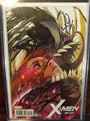 X-Men Blue # 21  Nm  1:50  Stephanie Hans Poison X Venom Variant Cgc Grade It !