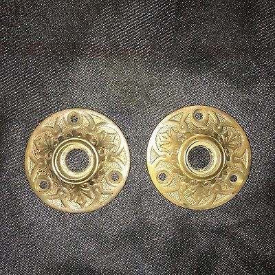 Beautiful Vintage Pair Of Antique Bronze Eastlake Rosettes #1