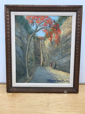 Hildegarde Hamilton (1898-1970); Original Oil Canvas, Queen's Staircase Bahamas