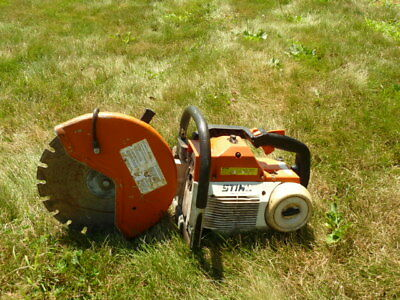 WITH BLADE!! STIHL TS460 Cut Off Saw 14 inch (Demo, Concrete, Chop Saw)