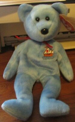 "Beanie Baby-""nina"" Bear Born October 12,2004 Ty Store Exclusive"