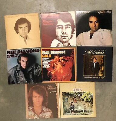 Lot of 8 different Neil Diamond record albums LP  instant collection