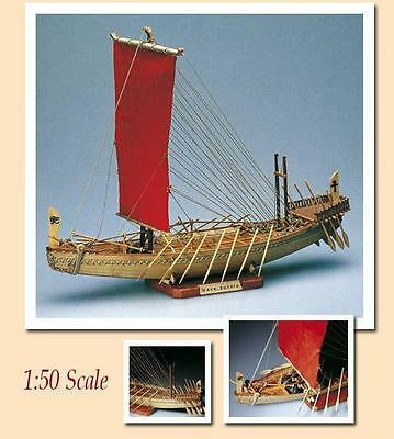 "Amati Egyptian Boat Nave Egizia 14""Ancient Wooden Ship Model Kit Historic Series"