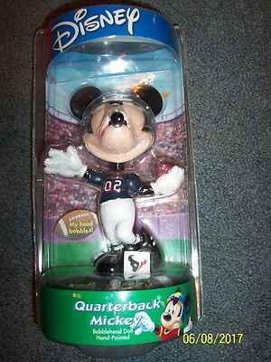 Disney Quarterback Mickey Mouse Bobblehead Hand Painted