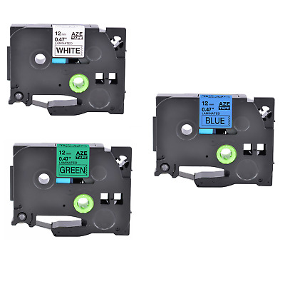 3PK Label Tape for Brother P-touch TZ TZe 231 531 731 PT-1200 1760 2410 11Q 12mm
