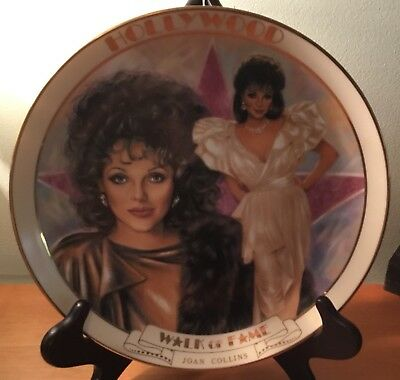 Hollywood Walk Of Fame Vintage Plate #216 Joan Collins