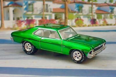 3rd Gen 1968–1974 Chevrolet Nova V-8 Muscle Car 1/64 Scale Limited Edition A
