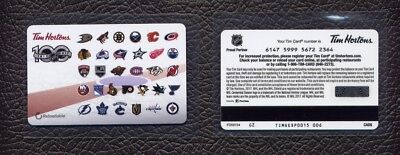 2017  NHL 31 Team Logos Tim Hortons Gift Card !!