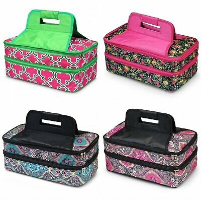 DOUBLE THERMAL INSULATED Casserole Travel Carrier Bag Food Cooler Dish  Carrier
