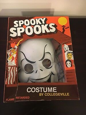 Collegeville Ghost Halloween Costume Spooky Spooks 1979 Vintage with Box RARE