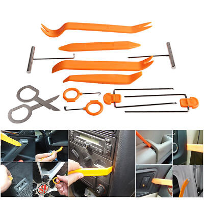 12pcs Car Panel Dash Removal Door Radio Trim Moulding Open Pry Tools  Universal