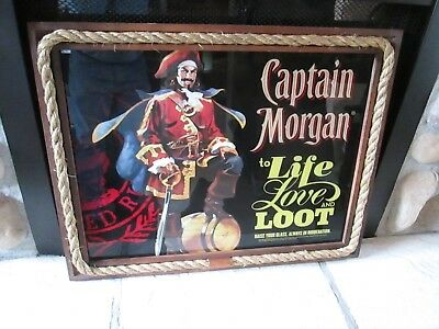 2011 Captain Morgan Mirror Display Mint Bar Decoration