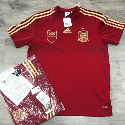 47ebe93818d Adidas Clima-Lite Spain Soccer World Cup 2014 Football Red Home Shirt $50  MSRP